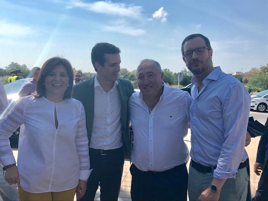 Todo el PP nacional y regional en la Pobla de Farnals con Pablo Casado